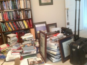 My Work and Home Offices - All Crammed Together.  Too Much Junk!